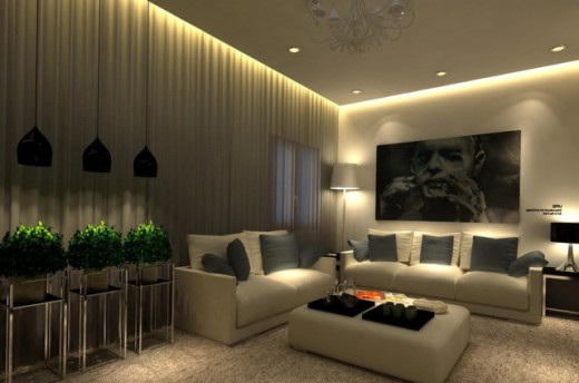 Excellent usage of lighting to emphasize a certain space and decors.