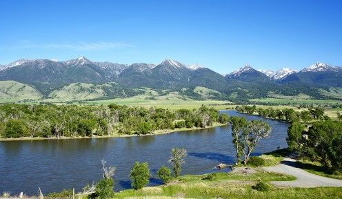 One view of the Yellowstone River