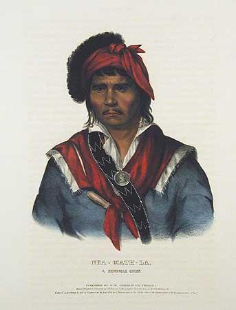 Seminole Chief, Nea-Math-La, between 1837-44