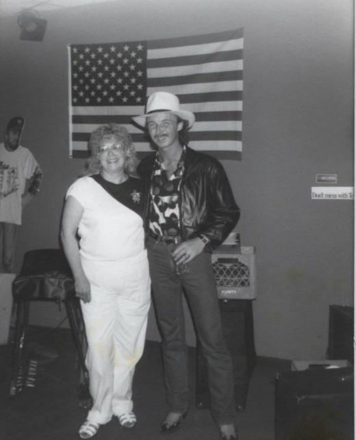 Me with Clinton Gregory in 1991.