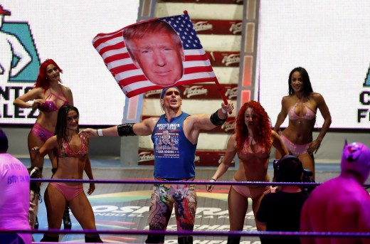 Sam Adonis and his Trump flag