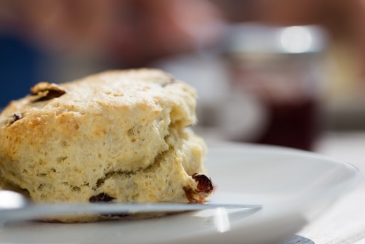 a beautiful, flaky, buttery scone