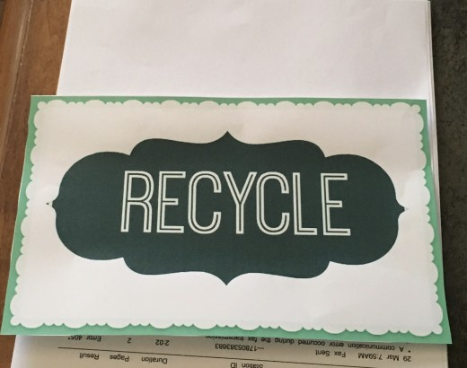 Divide recycle papers into general or shred and destroy.