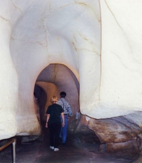 """Entering the """"belly of a whale"""" at Caverns of Sonora"""