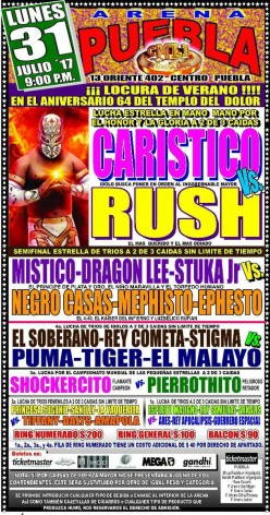 CMLL Puebla: The Rush is Gone
