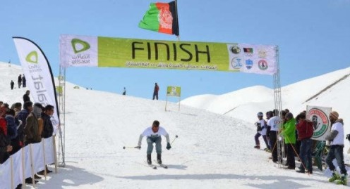 Skiing competition in Bamyan Afghanistan