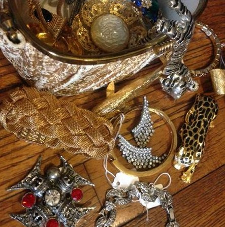 Antique and fashionable jewelry sells well.
