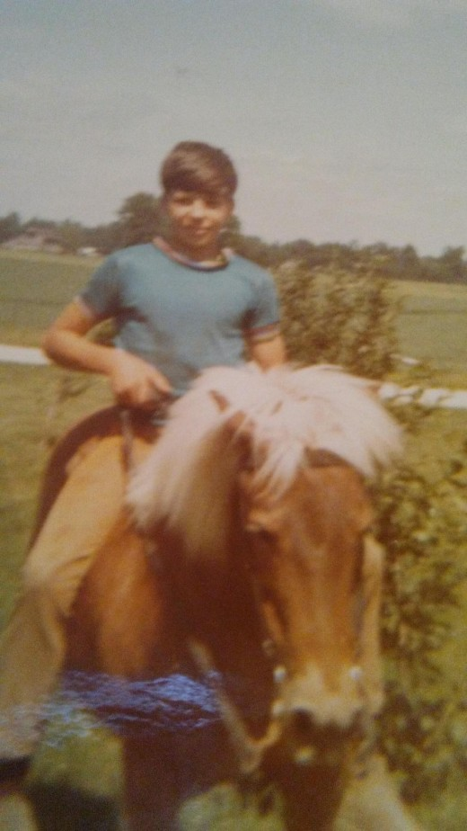 My first pony, Missy.