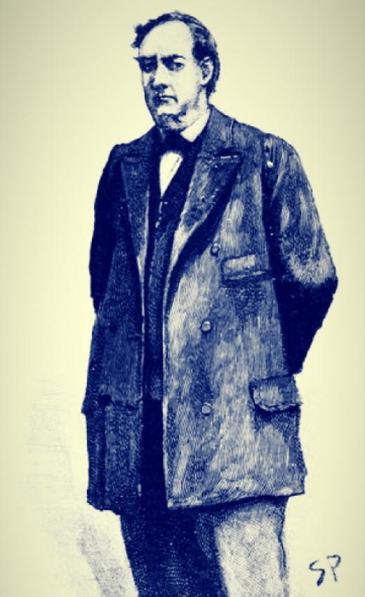 Mycroft Holmes, drawn by artist Sydney Paget for the Strand Magazine, 1893.