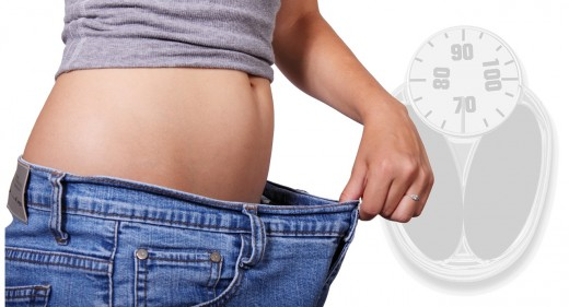 A slender waistline is a reward for weight loss.