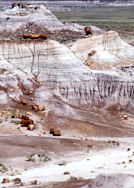 Badlands in the Petrified Forest National Park