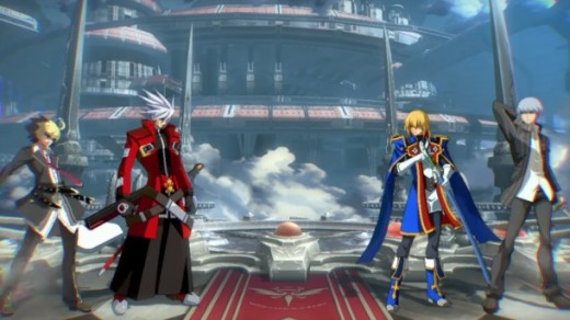 Ragna, Jin, and Yu Nurakami on the same screen