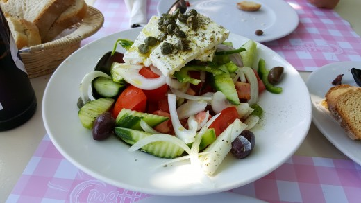 First Greek Salad of the Holiday