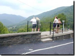 Most photographed view in the Smokies Overlook.