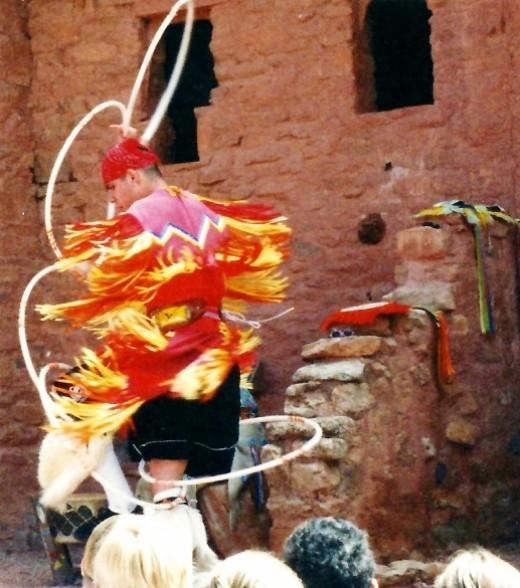 Hoop Dance performed at Manitou Cliff Dwellings