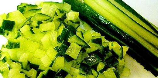 Chopped English Cucumber