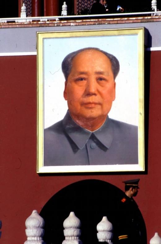 Portrait of Mao at Gate of Heavenly Peace (Tiananmen) in Beijing