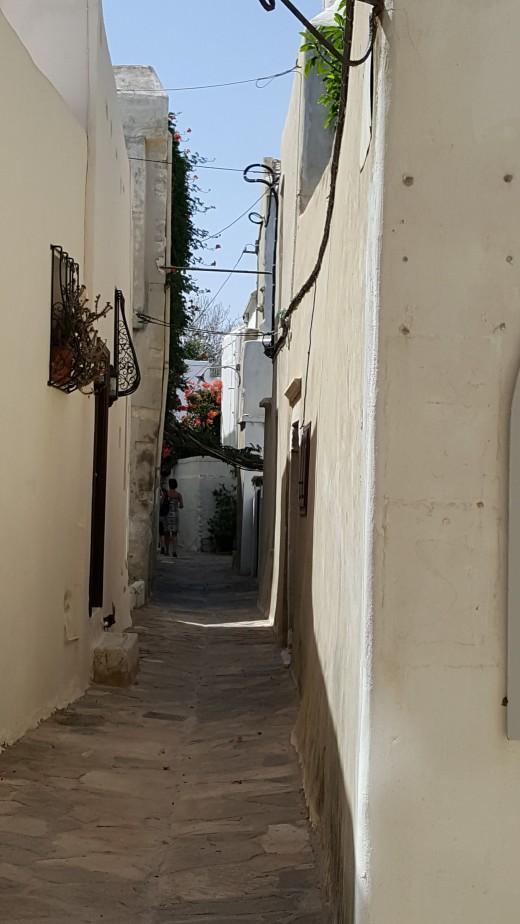 Inside Naxos Castle Walls