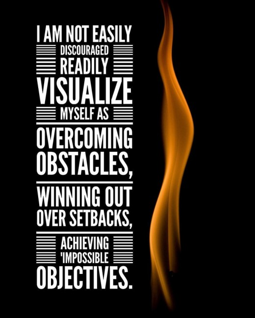 Visualize To Overcome Obstacles.