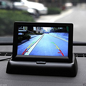 Rear view camera with LCD screen
