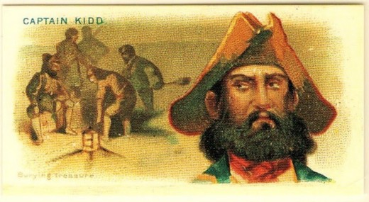 Captain Kidd was a pirate with connections to witches.