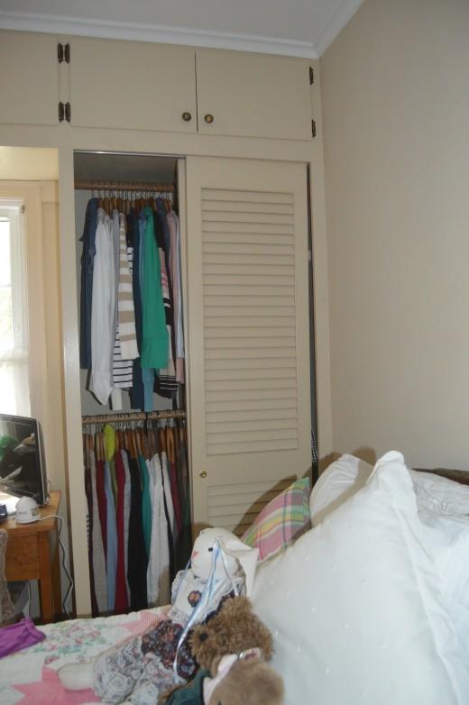 Small closets.