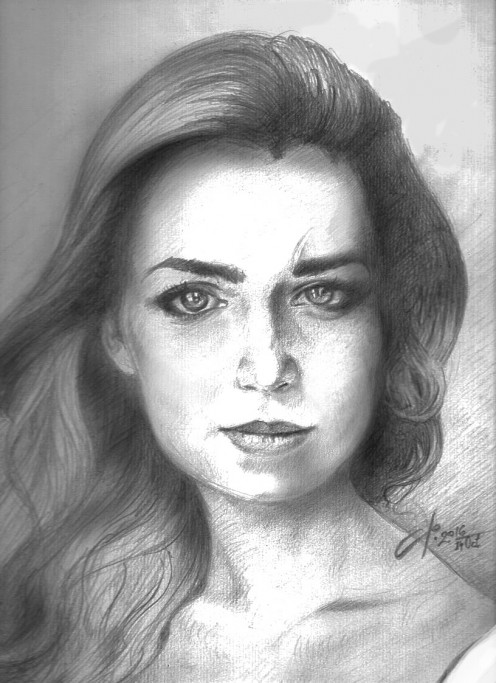 Filip Stojkovski, Graphite Pencil Portrait, 2016