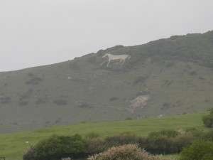 Litlington White Horse, in the Cuckmere valley, East Sussex