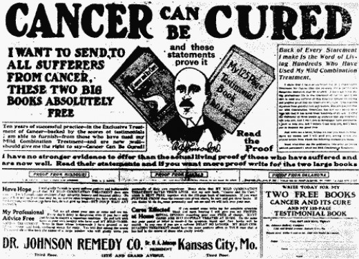 Pseudo-medical quackery scams have been around forever...