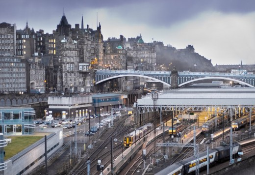 Waverley Station, Edinburgh, named after one of Sir Walter Scott's title characters