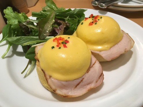 This is the more traditional kind of Eggs Benedict that Sundance Grill has. But be careful it is very salty!
