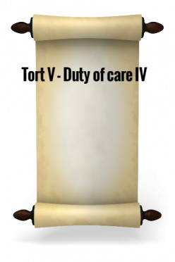 Tort V - Duty of care IV
