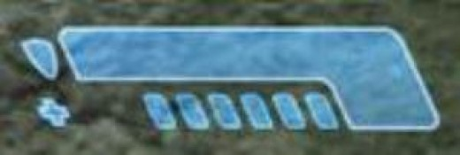 Shield bar (top) and Health bar (bottom) in Halo: Combat Evolved