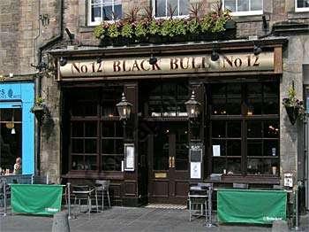 Black Bull on Grassmarket in Edinburgh Old Town