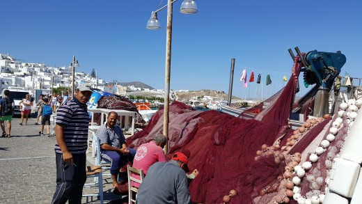 Mending Nets in Naoussa