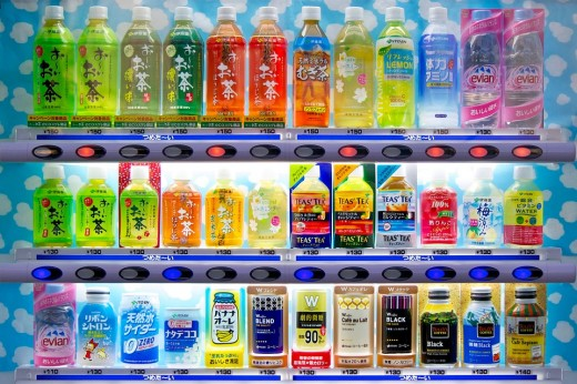 Tough luck if you're dreaming about finding exotic stuffs in Japanese vending machines. This is what you would be seeing most if not all the time.
