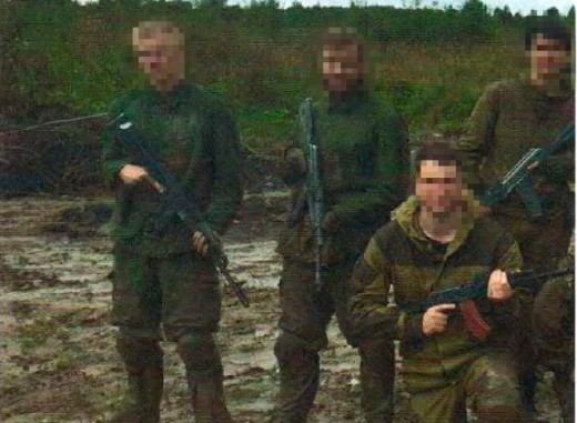 Two of the three bombers who belong to the Nordic Resistance Movement receiving military training in Russia.