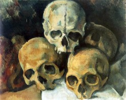 "Paul Cezanne ""Pyramid of Skulls"""
