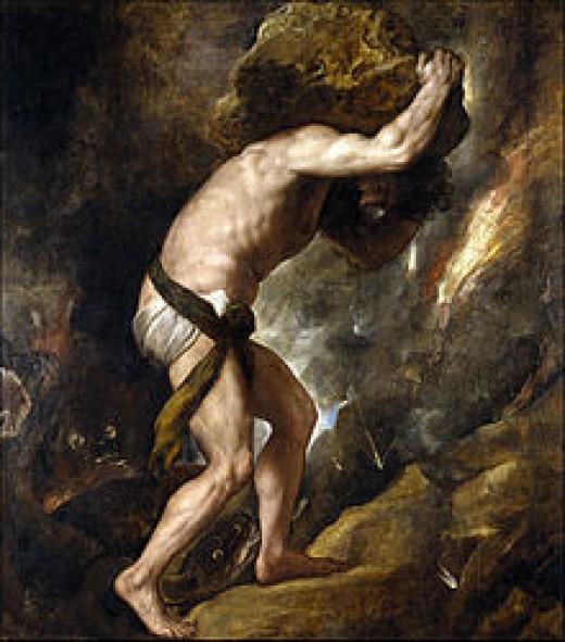 """""""One must imagine Sysiphus smiling!"""" Albert camus"""