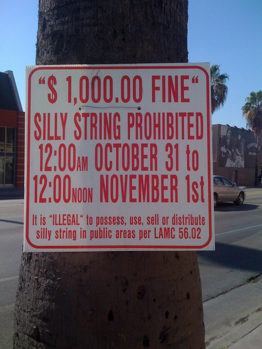 No Silly String!