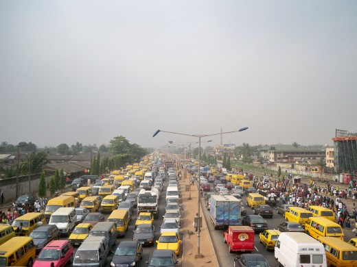 A regular rush hour on the streets of Lagos