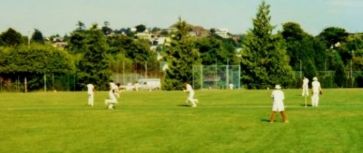 Cricket being played in Beacon Hill Park