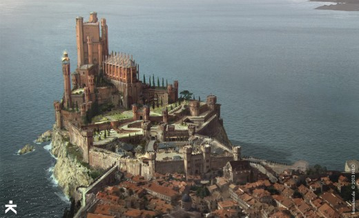 partial depiction of city of King's Landing