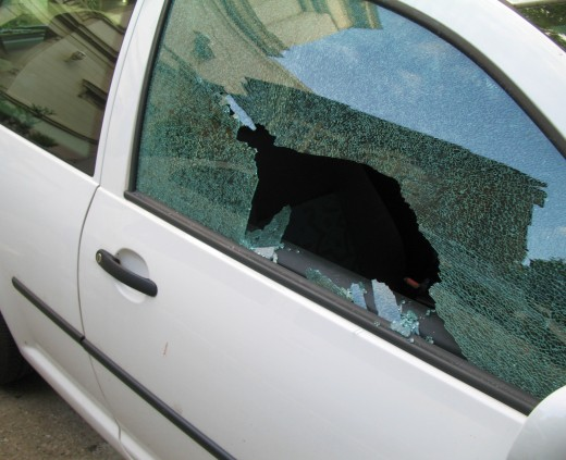 Walking up to your car with a broken window can be a very scary thing.