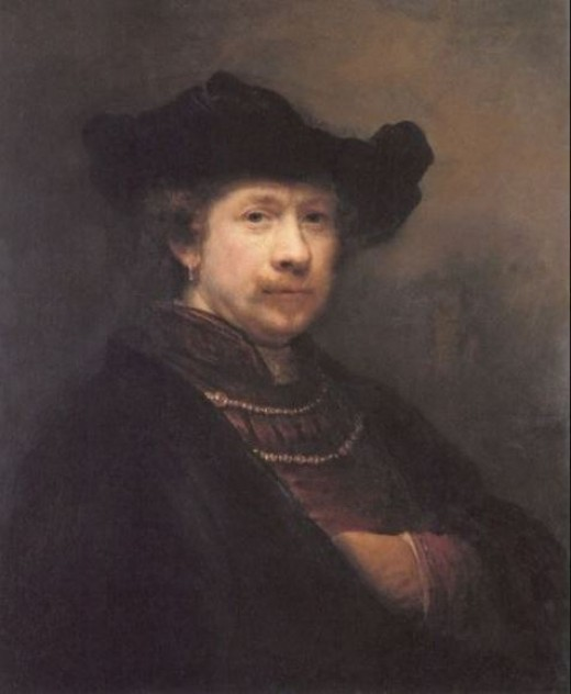 Rembrandt in Middle Age - A Self Portrait