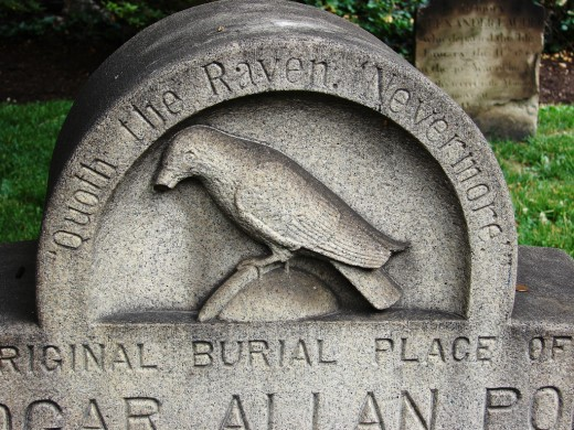 The gravestone of Poe's original resting place leaves us with a haunting reminder...Nevermore.