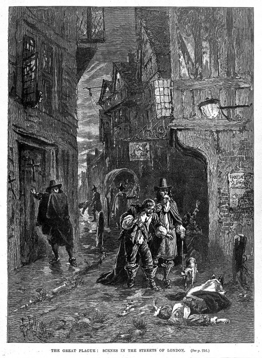 The Great Plague of London which killed up to 10000 people.