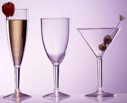 There is no end to the appealing varieties of plastic wine glasses