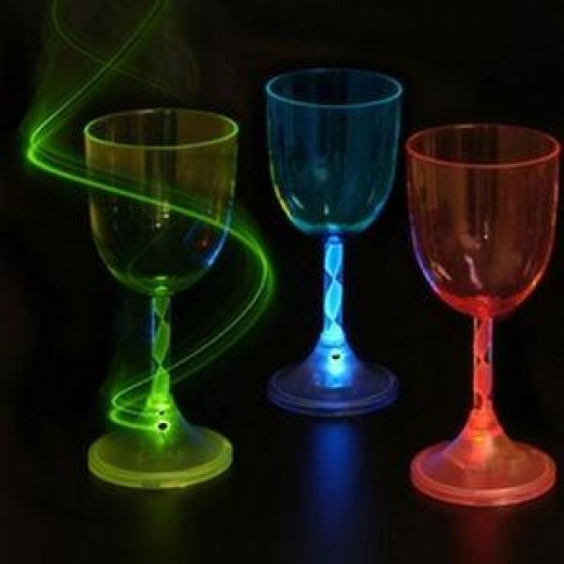 Plastic wine glasses are even available in attractive colors