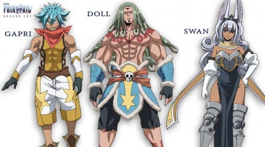 The elite group of wizards from the Stella kingdom (Gapri, Doll, and Swan) otherwise known as the Three Stars.